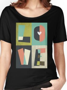 LOVE - typography full colour Women's Relaxed Fit T-Shirt