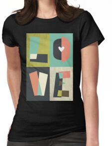 LOVE - typography full colour Womens Fitted T-Shirt