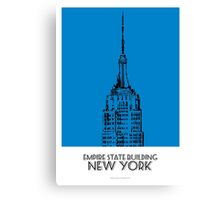 World Sketches - Empire State Building Sketch Canvas Print