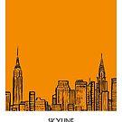 World Sketches - New York Skyline Sketch by springwoodbooks