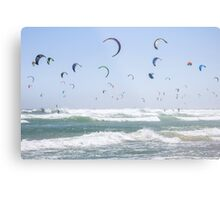 """Pretty as a Picture"" Guinness World Record - Kitesurfing Metal Print"