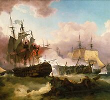 Phillip James De Loutherbourg - The Battle of Camperdown, Tate Britain by Adam Asar