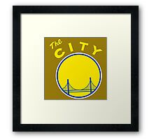 Golden_State_Warriors_Retro Framed Print