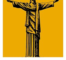 World Sketches - Christ The Redeemer - Brazil - by Mikey Simpson by springwoodbooks
