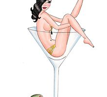 Martini  Pin-up by metroymedio