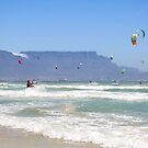 Kites Dancing Around Table Mountain - Cape Town, South Africa by SeeOneSoul