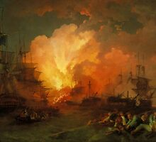 Phillip James De Loutherbourg - The Battle of the Nile, Tate Britain by Adam Asar