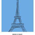 World Sketches - EIFFEL TOWER - France by springwoodbooks