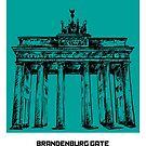 World Sketches - Brandenburg Gate Sketch by springwoodbooks