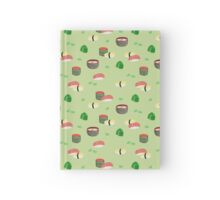 Assorted Sushi in Green Hardcover Journal