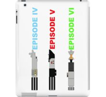 Episode 4-6 lightsabers with text iPad Case/Skin