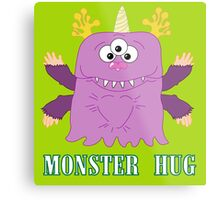 Monster Hug Metal Print