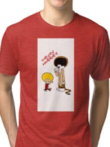 afro calvin and hobes Tri-blend T-Shirt