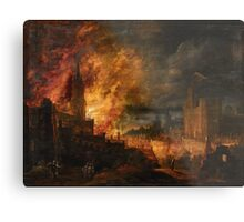 Pieter Segart, The Destruction of Sodom and Gomorrah Metal Print