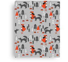 Red Riding Hood fairy tale children nursery kids pattern andrea lauren  Canvas Print