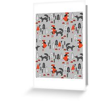 Red Riding Hood fairy tale children nursery kids pattern andrea lauren  Greeting Card
