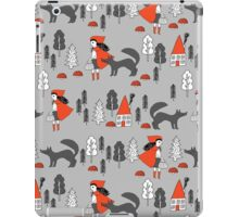 Red Riding Hood fairy tale children nursery kids pattern andrea lauren  iPad Case/Skin