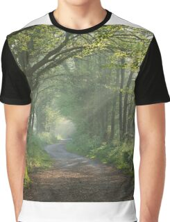 Countryside track in early morning sunlight Graphic T-Shirt