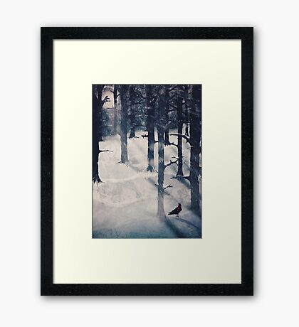 the raven who stole my heart Framed Print
