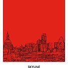 World Sketches - London Skyline by springwoodbooks