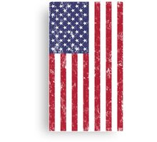 American Flag Hanging Distressed Digital Art Canvas Print