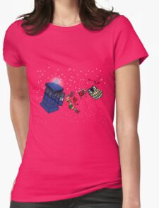 Doctor Who TARDIS Clothes Line Womens Fitted T-Shirt