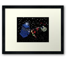 Doctor Who TARDIS Clothes Line Framed Print
