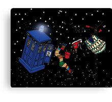 Doctor Who TARDIS Clothes Line Canvas Print