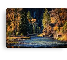 Fishing on the Colorado Canvas Print