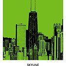 World Sketches - Chicago Skyline Sketch by springwoodbooks