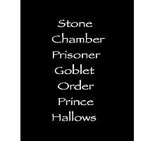 Harry Potter movies Photographic Print