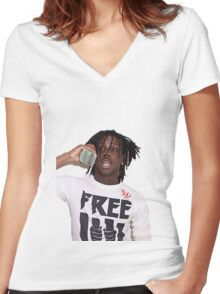 cheif keef Women's Fitted V-Neck T-Shirt