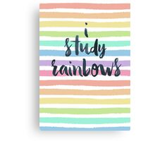 """I study rainbows."" Canvas Print"
