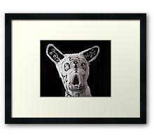 Day of the Dead Dog Framed Print