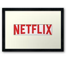Netflix Logo Framed Print