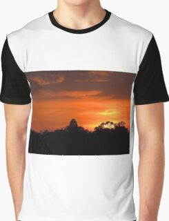 July Sunset and Silhouettes Graphic T-Shirt
