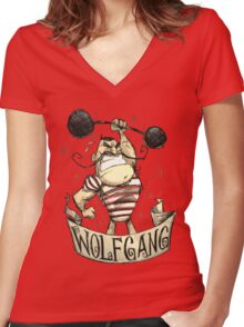 Don't Starve - The Strongman Women's Fitted V-Neck T-Shirt