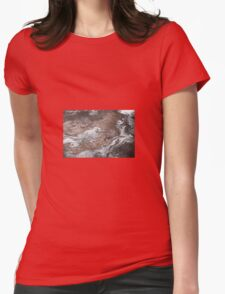 Oil in Water Patterns (1) Womens Fitted T-Shirt