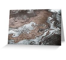 Oil in Water Patterns (1) Greeting Card