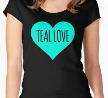 Teal Love Heart - Food Allergy Awareness Women's Fitted Scoop T-Shirt