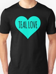 Teal Love Heart - Food Allergy Awareness Unisex T-Shirt