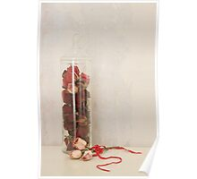 A jar of roses Poster