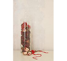 A jar of roses Photographic Print