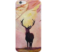 Deer coming from the glade -Style I iPhone Case/Skin