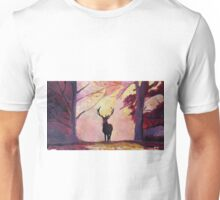 Deer coming from the glade -Style I Unisex T-Shirt