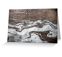 Oil in Water Patterns (2) Greeting Card