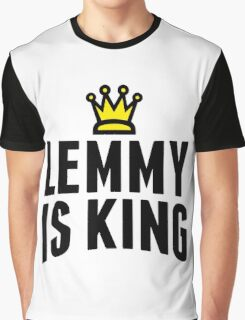 Lemmy Crowned King Graphic T-Shirt