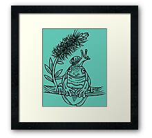 Snail on Frog Deux Framed Print