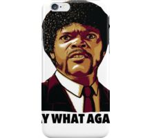 Pulp Fiction Say What Again iPhone Case/Skin