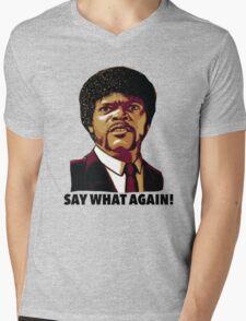 Pulp Fiction Say What Again Mens V-Neck T-Shirt